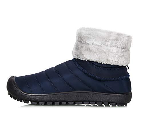 Iceunicorn Extérieures Neige De Bottes Hommes Légères Bottines Chaussures Hiver Boots Antidérapant Et 44eu bleu Fourrées Femmes Chaudes FF1wAr