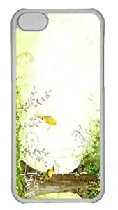 Customized iphone 5C PC Transparent Case - Summer Art 1 Personalized Cover