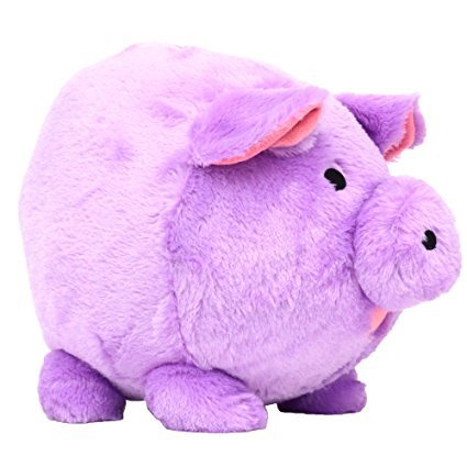 Jumbo Purple Plush Piggy Bank
