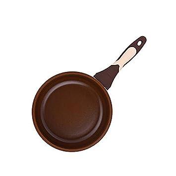 Huevos Fritos Planos Antiadherentes Sartén Antiadherente De Acero Inoxidable De Cerámica Segura Y No Tóxica,24Cm: Amazon.es: Hogar