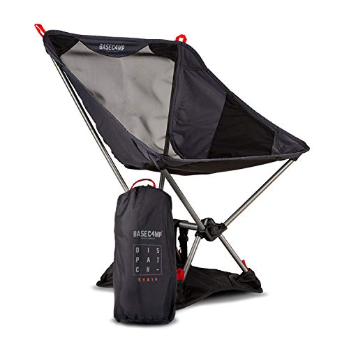 Ultra Lightweight Backpacking & Camping Chair - Weighs 2lbs - Easily Portable, Fold & Compact for On The Go Travel - with Bonus Carry Bag and Base Attachment for Extra Strength & Support - Max 250lbs ()