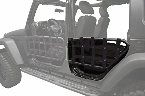 Dirty Dog 2007-2018 Jeep Wrangler JK Unlimited Olympic tube door nets Kit Black J4TN07OYBK