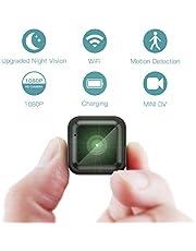 Mini Caméra Espion Caméra Cachée, 📸 Caméra de Surveillance à Distance Portable CACAGOO 1080P WiFi 2.4Ghz avec Vision Nocturne du Détecteur de Mouvement IR, Petites Caméras de Sécurité