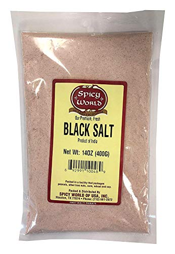- Spicy World Indian Black Salt 14 oz - Pure, Unrefined, & Natural (Kala Namak)