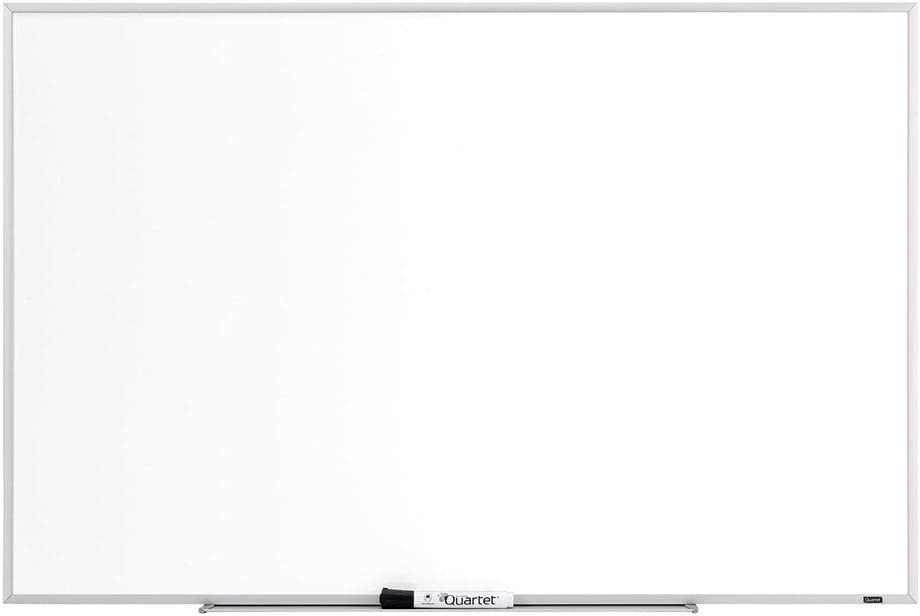 Quartet Whiteboard, 2' x 3' Dry Erase Board, White Board for Home Office, Classroom & Home School Supplies, Includes 1 Dry Erase Marker & Detachable Marker Tray, Aluminum Frame, Non-Magnetic (75123)