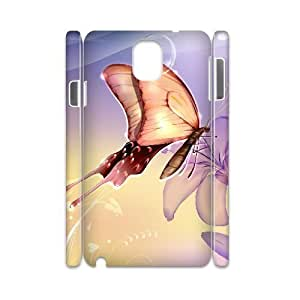 case Of Butterfly 3D Bumper Plastic customized case For samsung galaxy note 3 N9000