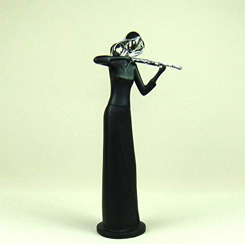 DAJIADS Figurine Figurines Statue Statues Statuette Abstract Female Violin Player Sculpture Handmade Resin Violinist Statuette Music Ornament Craft for Home Office and Bar Decor ()