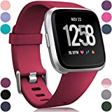 Wepro Bands Compatible with Fitbit Versa SmartWatch, Versa 2 and Versa Lite SE Watch for Women Men, Small and Large