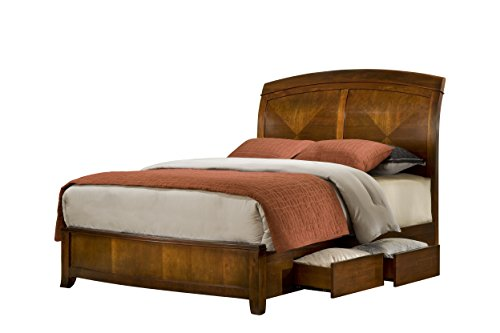 (Modus Furniture Brighton Storage Bed, Wood, Cinnamon, Queen )