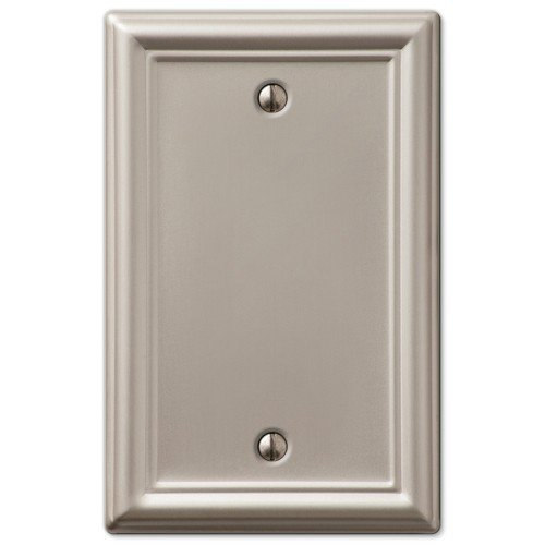 Decorative Wall Switch Outlet Cover Plates (Brushed Nickel, (Phone Outlet Switchplate)