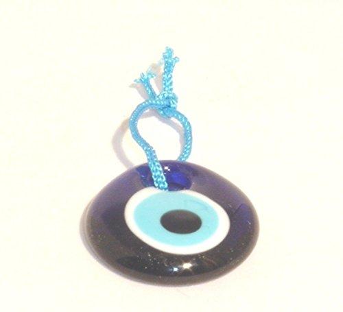 Glass Evil Eye Talisman 1.5-inch Round Blue Spiritual Religious Good Luck Protection