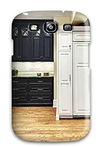 High Quality BkMendo2611ZJQmN Traditional Kitchen With Wall Ovens And Paneled Fridge Tpu Case For Galaxy S3