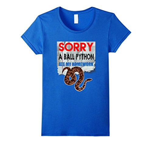 Women's SORRY BALL PYTHON ATE MY HOMEWORK T-SHIRT Snake P...