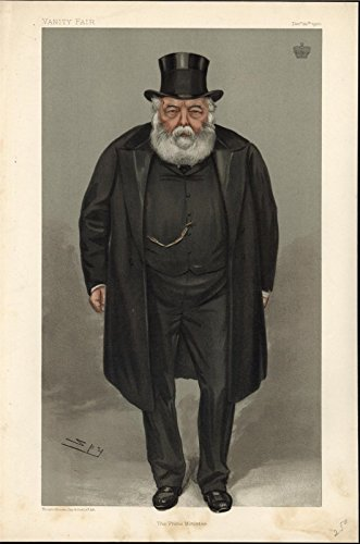 Lord Robert Cecil Viscount Cranborne 1900 antique color portrait - 1900 Antique Portrait