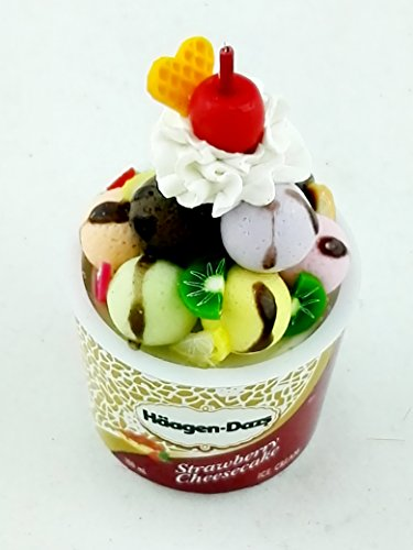 Chic Product Miniature Dollhouse Collectable Haagen-Dazs Ice Cream in a Cup Perfect for Home ()