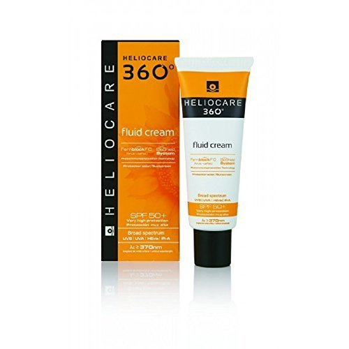 Heliocare 360 Fluid Cream Sun Block / Sun Cream by DIFA COOPER SpA - Hair Skin And Care Aqua
