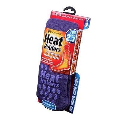 Womens/Ladies Heat Holders Extra Warm Thermal Slipper Socks (2.3 Tog) BSLHH28G1AST