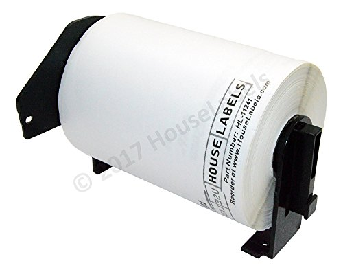 Generic Shipping Labels Compatible w/ Brother DK-1241 with ONE -1 reusable black cartridge (4 x 6; 151mm*102mm) BPA Free (5 Rolls; 200 Labels per Roll)