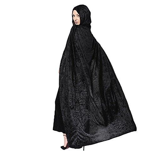 Femme Sorcire Cape 5 Longue Noir Favoridol 57ft Capuche Homme Diable Maquillage Cosplay Cape Unisexe Chale Manteau Costume Halloween Vampire Dguisement Adultes Mdivale 170cm BwSSH6U0pc