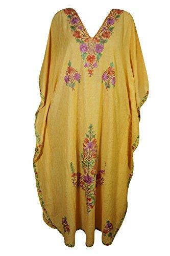 Manica Corta Donna 2 Kimono Vestito Interior Mogul Yellow q816pp