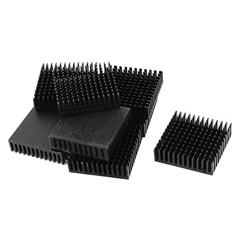 uxcell 10 Pcs Aluminium 40 x 40 x 11mm Square Heatsink Cooling Cooler Fin Black by uxcell (Image #1)