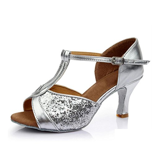 Sandale Schuhe Latein C Farbe Ballroom XUE Party Abend amp; Indoor Damen Schuhe Braun C Tanzschuhe Gold Ferse Satin Schnalle Fuchsia Sqx55pYIn