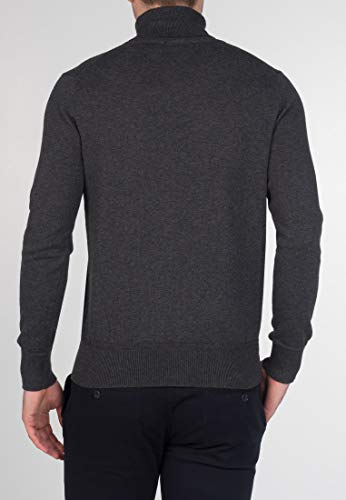 Homme Marl Pull roulé col Manches Charcoal Wapping Longues Merc zxZwqRx