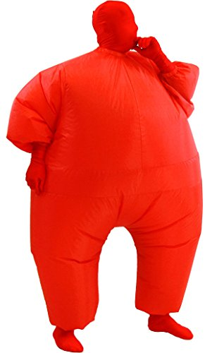 [Chub Suit Inflatable Blow up Full Body Jumpsuit Costume (Red)] (Inflatable Chub Suit Costume)
