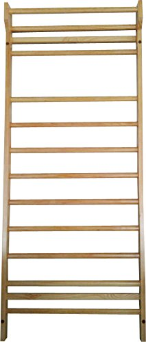 Durable Port Wood Stall Bar - Swedish Ladder with 12 Rods for Physical Therapy, Workout & Training Range of Motion Exercises - Sturdy & Solid - Ideal for Homes, Clinics, Gyms, and Hospitals by Durable Port