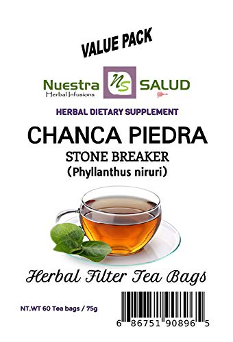 Stone breaker Tea Chanca Piedra - Filter Tea Value pack (60 tea bags)