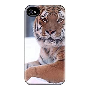 Durable Case For The Iphone 4/4s- Eco-friendly Retail Packaging(tiger Snow Wide)