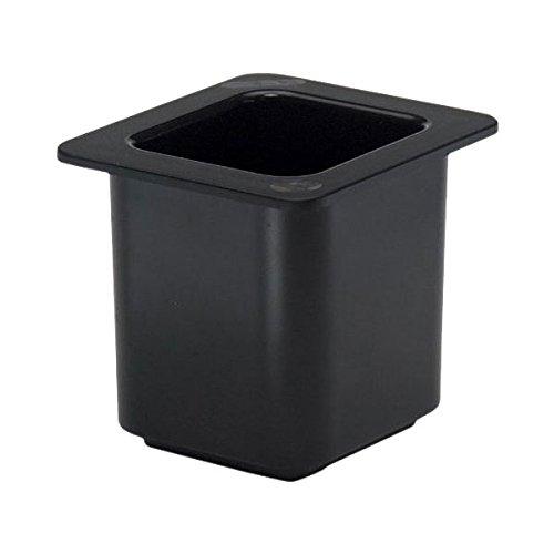 Cambro 66CF110 ColdFest Pan, Black, 1/6 Size, Case of 6