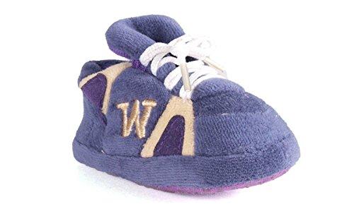 WAS03PR - Washington Huskies NCAA Happy Feet Baby Slippers