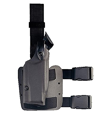 Safariland 6004 Black Streamlight ITI M3 Mount Glock 17, 22 SLS Hood Tactical Gun Holster, Right Handed, Black - Safariland 6004 Fondina Duty