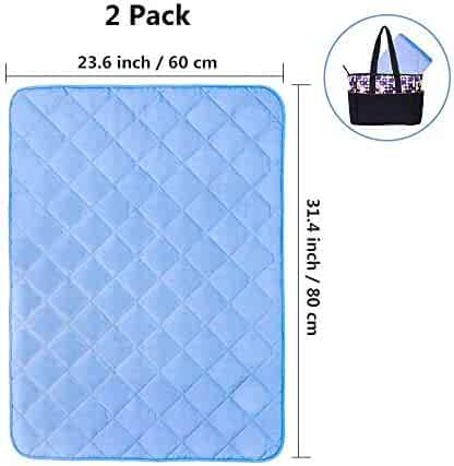 Topwon Quilted Changing Pad Waterproof Liners, Mattress Pad Cover Protector for Baby Toddlers - Comfy and Soft 23'' x 31'' (Pack of 2)