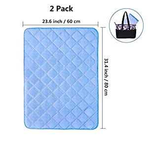 "Topwon Quilted Changing Pad Waterproof Liners, Mattress Pad Cover Protector for Baby Toddlers – Comfy and Soft 23"" x 31"" (Pack of 2)"
