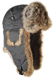 Mad Bomber Original Grey Aviator Pilot Hat Real Rabbit Fur Trapper Hunting  Cap 3b92f08d5a3f