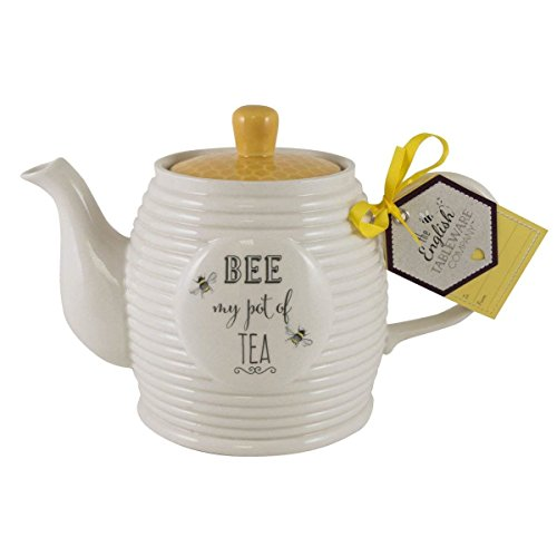 English Tableware Company Bee Happy Bee My Pot of Tea Teapot 33.81 fl ()
