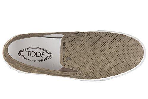 Tod's slip on homme en daim sneakers sport leggera marron