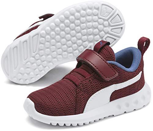 PUMA Baby Carson Velcro Sneaker, Rhubarb-Galaxy Blue, 10 M US -