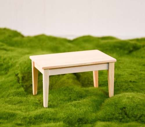 - EatingBiting(R) 1/12 Dollhouse Miniature Doll Wooden Rectangle Flat Table , 1:12 Dollhouse Miniature Furniture Garden Wooden Table for Living Room , DIY Color .