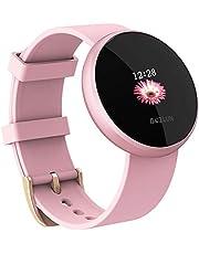Reloj Inteligente Mujer,Reloj de Monitor de Ritmo cardíaco con Pantalla a Color, Pantalla de Reloj con Efecto de Despertador automático IP68 Reloj Inteligente Hombre
