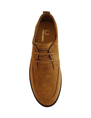 Fred Perry , Chaussures de Ville à Lacets pour Homme Beige