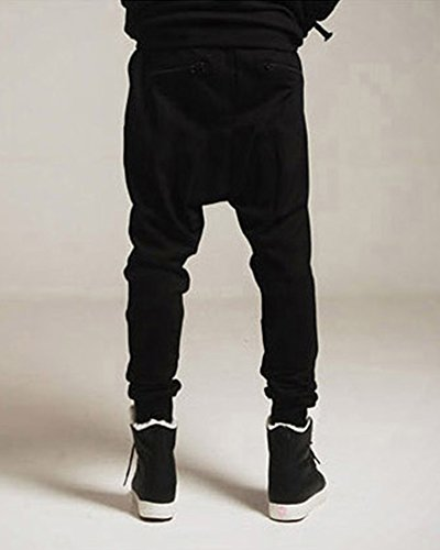 Casual Jogger Hop Hip Pantaloni Pantalone Nero Leggero Uomo Slim Chino Quge Sportivi Fit Harem 6g75cwq