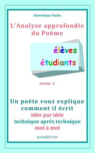Amazoncom Lanalyse Du Poème élèves étudiants Un Poète