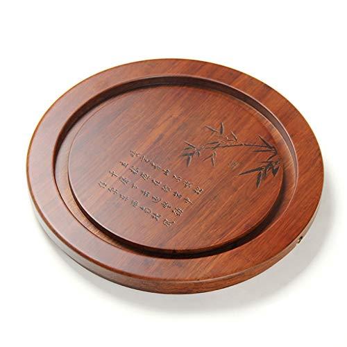 Tea Tray Tea Table Solid Wood Heavy Bamboo Tray Home Living Room Drainage Tea Table Whole Tea Set (Color : 45454.5CM) by GQQ (Image #7)