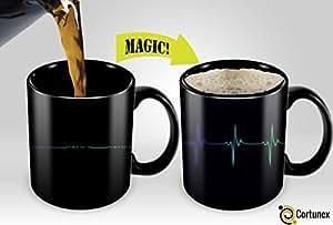 Heat Sensitive Mug   Color Changing Coffee Mug   Funny Coffee Cup   Cardio Monitor Magic Mug 11oz
