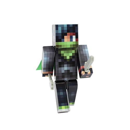[Emo Skater Boy Action Figure Toy, 4 Inch Custom Series Figurines by EnderToys] (Ghast Minecraft Costume)