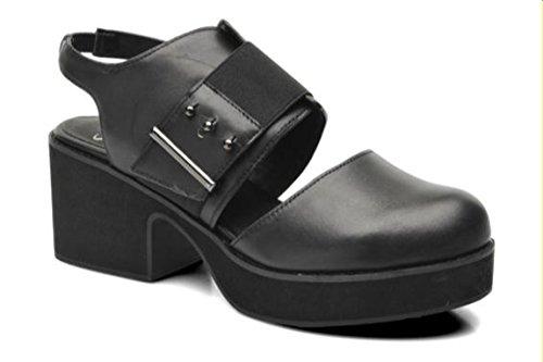 Shellys London Women's Fashion Sandals Black Black NpGPx