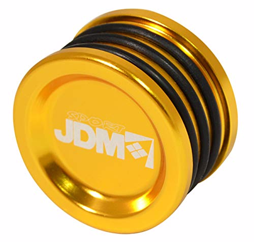JDM Sport Anodized Engine Cam Shaft Seal Cover Cap Plug O Ring For Honda Acura B/D/H/F Series Engines (Gold)